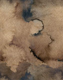 Seamless Watercolor Coffee Color Water Paper Background. Abstract brown raster illustration. Stock Images