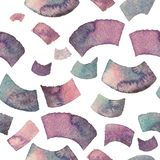 Seamless watercolor confetti pattern in blue and violet tones. Watercolour texture Royalty Free Stock Photography