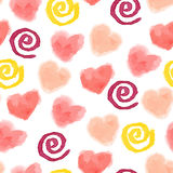 Seamless watercolor cute background Stock Photo