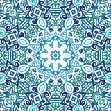Seamless watercolor doodle decorative pattern. Seamless aqua watercolor doodle fantasy decorative pattern Stock Photography