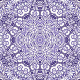 Seamless watercolor doodle decorative pattern royalty free illustration