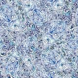 Seamless watercolor doodle pattern Royalty Free Stock Photo