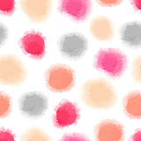 Seamless watercolor dots background Stock Photo