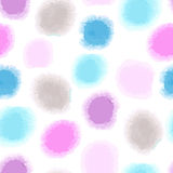 Seamless watercolor dots background Stock Photography