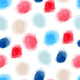 Seamless watercolor dots background Stock Image