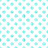 Seamless watercolor dots pattern vector illustration