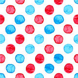 Seamless watercolor dots pattern Royalty Free Stock Image