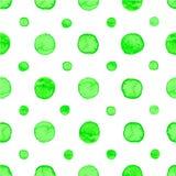 Seamless watercolor dots pattern Stock Photo