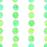 Seamless watercolor dots pattern Stock Photos
