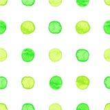 Seamless watercolor dots pattern Royalty Free Stock Image