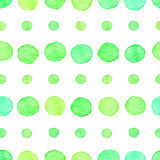 Seamless watercolor dots pattern Royalty Free Stock Photo