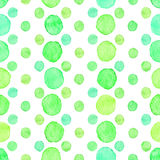Seamless watercolor dots pattern Stock Image
