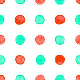 Seamless watercolor dots pattern Stock Images