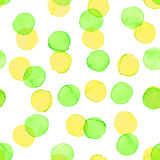 Seamless watercolor dots pattern Royalty Free Stock Images