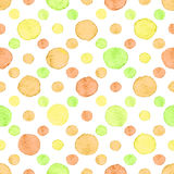 Seamless watercolor dots pattern Royalty Free Stock Photography