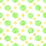 Seamless watercolor dots pattern Royalty Free Stock Photos
