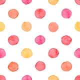 Seamless watercolor dots pattern Royalty Free Stock Photos