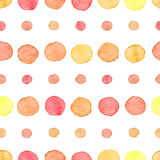 Seamless watercolor dots pattern Stock Photos