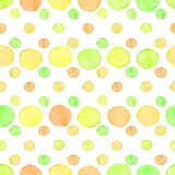 Seamless watercolor dots pattern Stock Photography