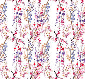 Seamless watercolor floral background Royalty Free Stock Photography