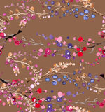 Seamless watercolor floral background Royalty Free Stock Photo