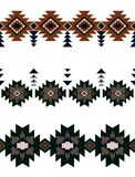 Seamless watercolor floral design with leaves on black background for textile prints.Seamless abstract with three rows of african. Seamless abstract with three vector illustration