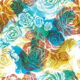 Seamless watercolor floral pattern Stock Image