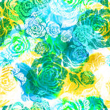 Seamless watercolor floral pattern Stock Photos