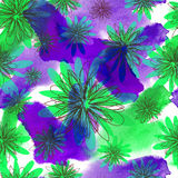 Seamless watercolor floral pattern Royalty Free Stock Photo