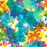 Seamless watercolor floral pattern Royalty Free Stock Photography