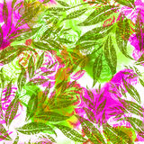 Seamless watercolor floral pattern Royalty Free Stock Photos
