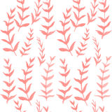 Seamless watercolor floral pattern. Hand drawn watercolor. Plants background Stock Photography