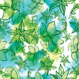 Seamless watercolor floral pattern Stock Images