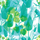 Seamless watercolor floral pattern Stock Photography