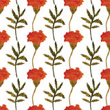 Seamless watercolor floral pattern. Stock Image
