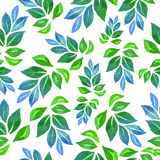 Seamless watercolor floral pattern, Royalty Free Stock Image