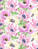 Seamless watercolor flowers background royalty free illustration