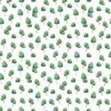 Seamless watercolor forest pattern. Green cute trees on white background. Abstract watercolor illustration. Baby pattern. Seamless watercolor forest pattern royalty free stock photography