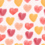 Seamless watercolor hearts background Royalty Free Stock Images