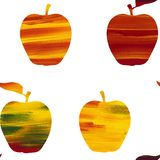 Pattern apples in collage style stock illustration
