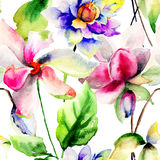 Seamless watercolor illustration Royalty Free Stock Image