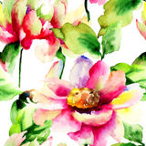 Seamless watercolor illustration Royalty Free Stock Images