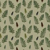 Seamless pattern from original leaves in autumn. royalty free illustration
