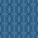 Seamless blue paisley pattern. Seamless watercolor paisley pattern on blue vector illustration