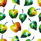 Seamless watercolor pattern with apples Royalty Free Stock Photography