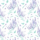 Seamless watercolor pattern Stock Photo