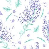 Seamless watercolor pattern Royalty Free Stock Photo
