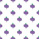 Seamless watercolor pattern with beetroot on the Stock Images