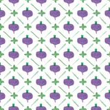 Seamless watercolor pattern with beetroot on the Royalty Free Stock Images
