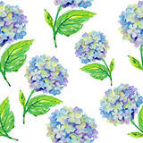 Blue flowers pattern Stock Photo